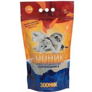 Наполнитель для кошачьего туалета Зооник, 2.5 кг