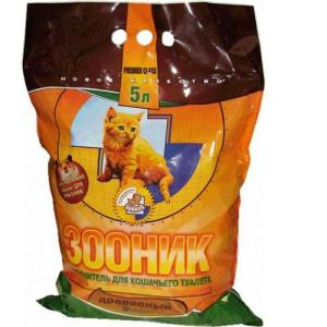 Наполнитель для кошачьего туалета Зооник, 3 кг