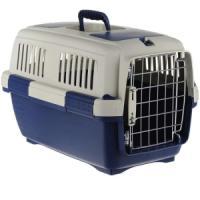 Фотография товара Переноска для кошек Marchioro Clipper Tortuga, размер 3, 2.7 кг, размер 64х43х43см., бежевый/синий