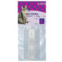 Фотография товара Расческа для собак и кошек Дарэлл 0111, 100 г, размер 9.5х5х0.2см.