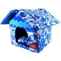 Фотография товара Домик для собак и кошек Родные Места Гжель, размер 32x33x36см.