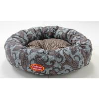 Фотография товара Лежак для собак Родные Места Ватрушка Огурцы серые, размер 50x50x15см.