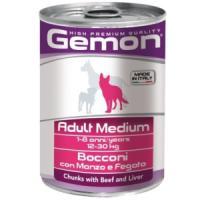Фотография товара Корм для собак Gemon Dog Medium, 415 г, говядина с печенью
