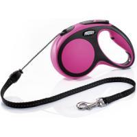 Фотография товара Рулетка для собак Flexi New Comfort M Cord, розовый