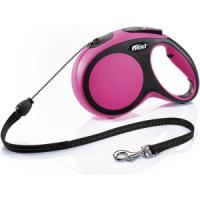 Фотография товара Поводок-рулетка для собак Flexi New Comfort M Cord, розовый