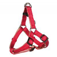 Фотография товара Шлейка для собак Trixie Elegance One Touch XS, красный/бежевый