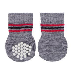 Носки для собак Trixie Dog Socks L, 2, серый