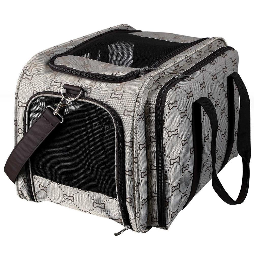 447958c9862c Сумка-переноска для кошек и собак Trixie Maxima. Транспортная жаккардовая  сумка с отстегивающимся боковым карманом для животных до 5 кг