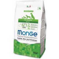 Фотография товара Корм для собак Monge Dog Speciality, 2.5 кг, кролик, рис, картофель