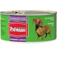 Фотография товара Корм для собак Четвероногий гурман готовый обед, 325 г, говядина и рис