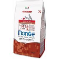 Фотография товара Корм для щенков Monge Dog Puppy and Junior Mini, 2.5 кг, ягненок с рисом