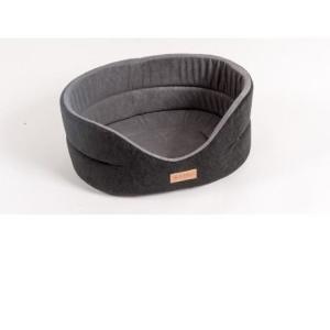 Лежанка для собак Katsu Suedine  XL, размер 64х56х23см., черный/серый