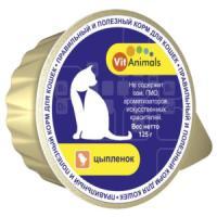Фотография товара Корм для кошек VitAnimals, 125 г, цыпленок