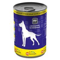 Фотография товара Корм для собак VitAnimals, 410 г, говядина с печенью