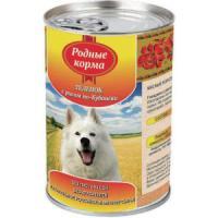 Фотография товара Корм для собак Родные корма По-Кубански, 970 г, теленок с рисом