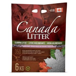 Наполнитель для кошачьего туалета Canada Litter Запах на замке (Лаванда), 6 кг
