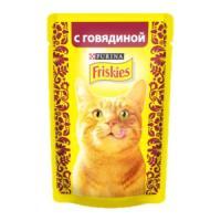 Фотография товара Корм для кошек Friskies, 85 г, говядина