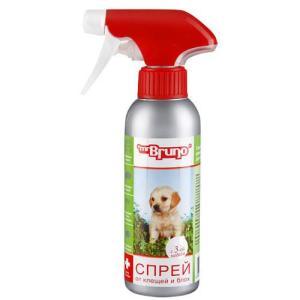 Спрей для щенков и собак от блох и клещей Mr. Bruno Бережная защита