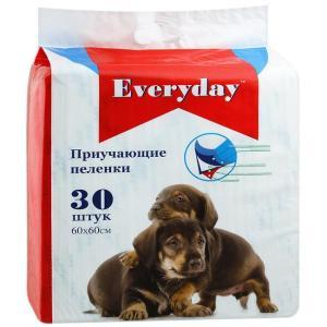 Приучающие пеленки для собак EveryDay, размер 60х60см., 30шт.