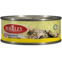 Фотография товара Влажный корм для кошек Berkley, 100 г, говядина с цукини