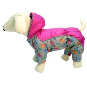 Комбинезон для собак Osso Fashion, размер 37, серый/фуксия