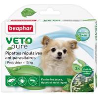 Фотография товара Капли от блох и клещей для собак мелких пород Beaphar Veto Pure, 3 пип.