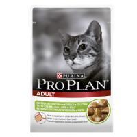 Фотография товара Корм для кошек Pro Plan Adult, 85 г, ягненок в желе
