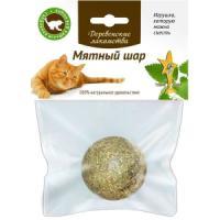 Фотография товара Лакомство для кошек Деревенские лакомства Мятный шар, 20 г