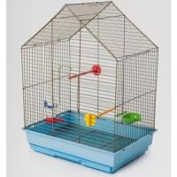 Фотография товара Клетка для птиц Велес Lusy Fly, 1 кг, размер 30х42х63см., золото