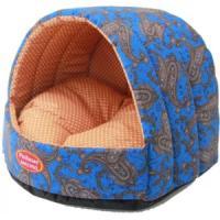 Фотография товара Домик для собак и кошек Родные Места Огурцы, размер 38х35х27см., синий