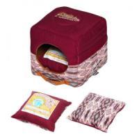 Фотография товара Домик для собак и кошек Katsu Уют S S, 1 кг, размер 30х30х16см., бордовый