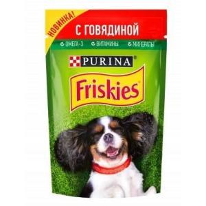 Корм для собак Friskies Adult, 85 г, говядина