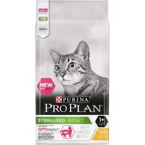 Корм для кошек Pro Plan Sterilised Optirenal, 10 кг, курица
