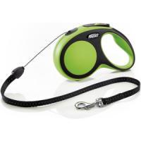 Фотография товара Поводок-рулетка для собак Flexi New Comfort S Cord, зеленый
