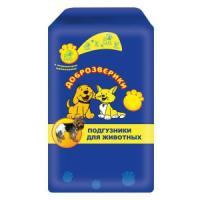 Фотография товара Подгузники для собак Пелигрин Доброзверики XL, 9 шт.