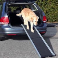 Фотография товара Пандус для собак Trixie Petwalk Folding Ramp, размер 38×155см., черный