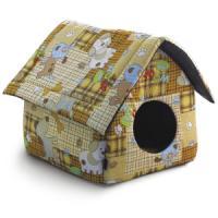 Фотография товара Домик для собак и кошек Гамма Дг-06710, размер 36х36х38см., цвета в ассортименте