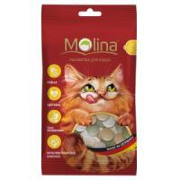 Фотография товара Лакомство для кошек Molina MIX, 35 г, дичь, маскарпоне, травка