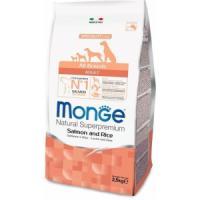 Фотография товара Корм для собак Monge Dog Speciality Adult, 2.5 кг, лосось с рисом