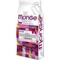 Фотография товара Корм для кошек Monge Cat Indoor Sterilised, 10 кг, курица с ветчиной