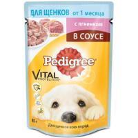 Фотография товара Корм для щенков Pedigree Vital Protection, 85 г, ягненок