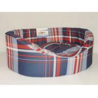 Фотография товара Лежак для собак Бобровый дворик Овальный с бортиком 6, размер 6, размер 84х57х20см., цвета в ассортименте