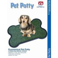 Фотография товара Туалет с травкой для собак и щенков Pet Potty Bone Shape, размер 68х43х3см.