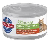 Фотография товара Влажный корм для котят Hill's Kitten Mousse, 85 г, курица и индейка