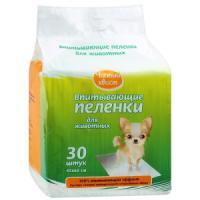 Фотография товара Пеленки для собак и кошек Чистый Хвост, размер 60х45см., 30шт.