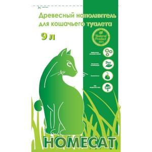 Наполнитель для кошачьего туалета Homecat, 3 кг, 100% древесина хвойных пород