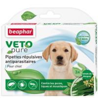 Фотография товара Капли от блох и клещей для щенков Beaphar Veto Pure, 3 пип.