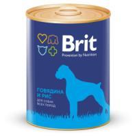 Фотография товара Корм для собак Brit Beef & Rice, 850 г, говядина и рис