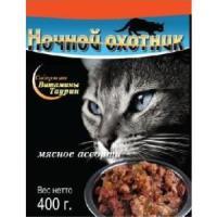 Фотография товара Корм для кошек Ночной охотник, 400 г, мясное ассорти