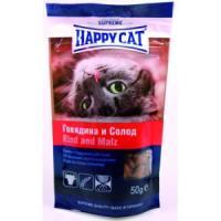 Фотография товара Лакомство для кошек Happy Cat, 50 г, говядина и солод